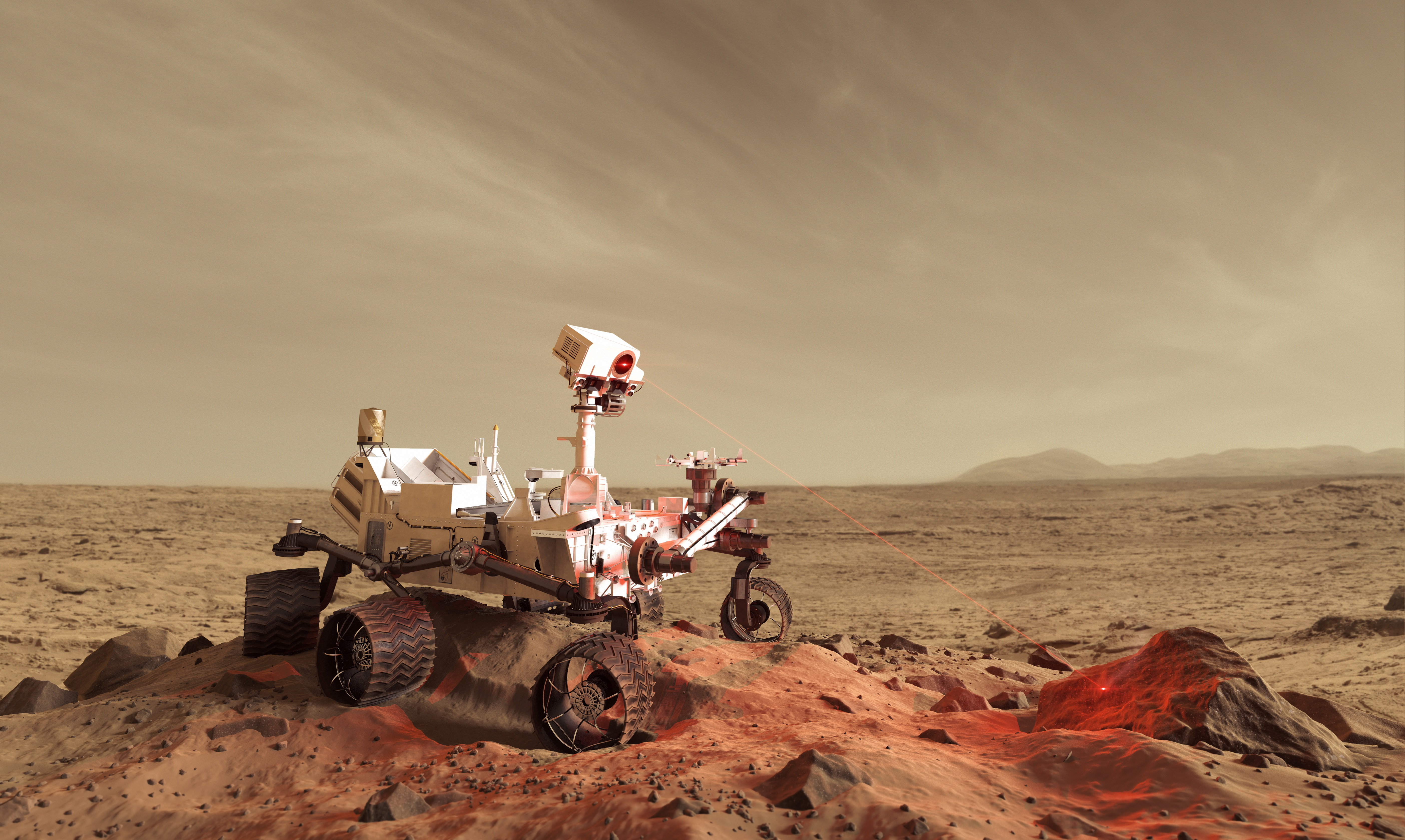 curiosity rover on mars background - photo #22